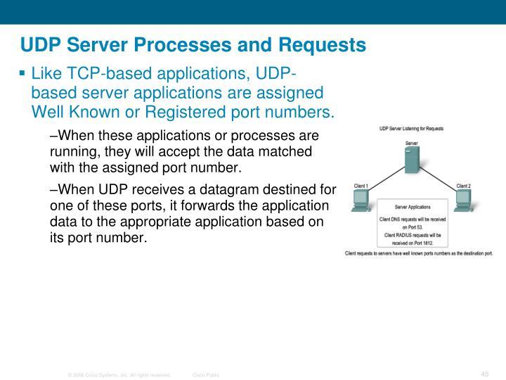 UDP Server Processes and Requests