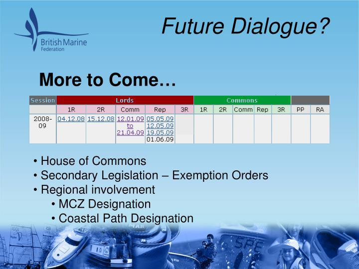 Future Dialogue?
