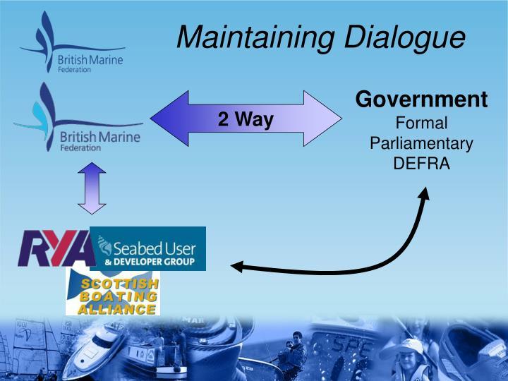 Maintaining Dialogue