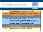 eu 15 multi pillar model in reform