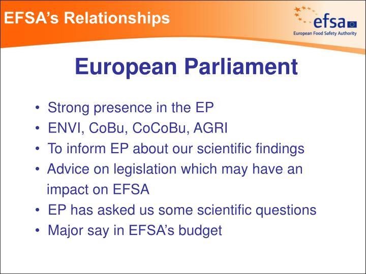 EFSA's Relationships