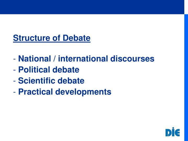 Structure of Debate