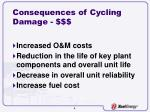 consequences of cycling damage