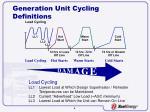 generation unit cycling definitions