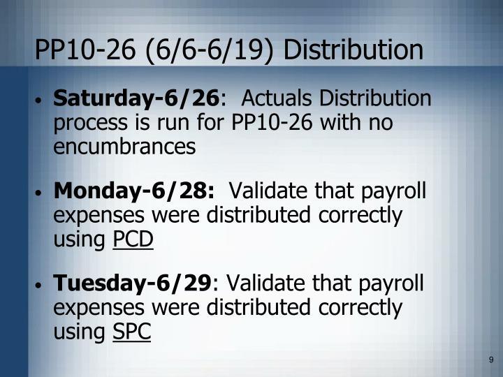 PP10-26 (6/6-6/19) Distribution