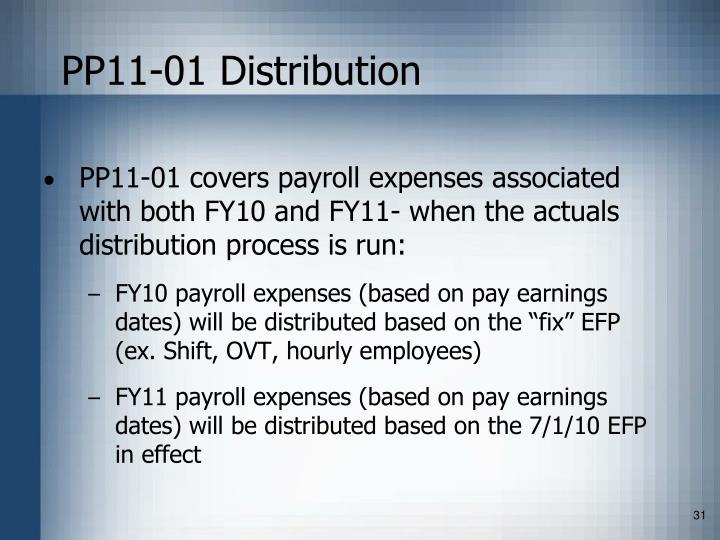 PP11-01 Distribution