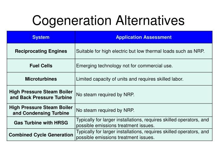 Cogeneration Alternatives