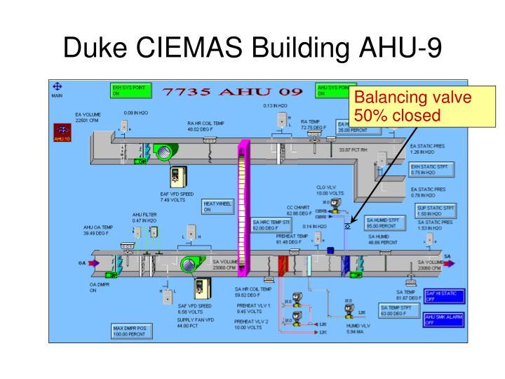 Duke CIEMAS Building AHU-9