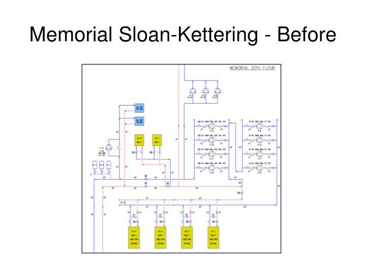 Memorial Sloan-Kettering - Before
