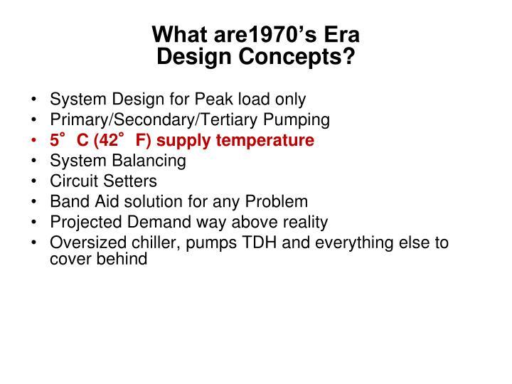 What are1970 s era design concepts