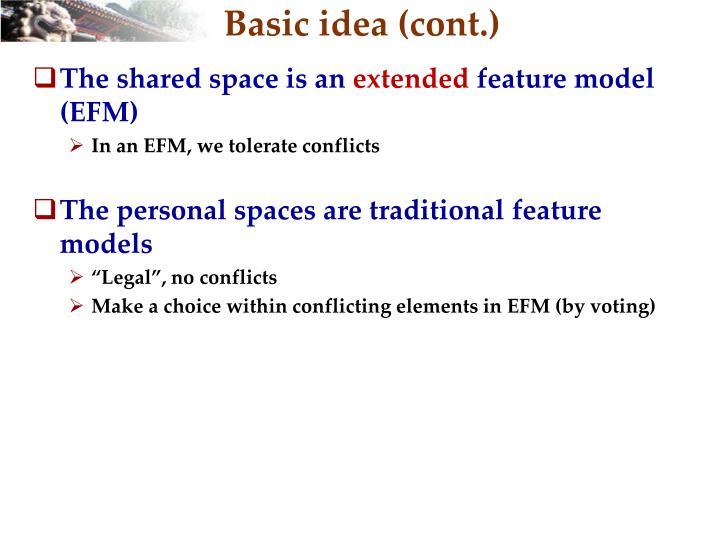 Basic idea (cont.)