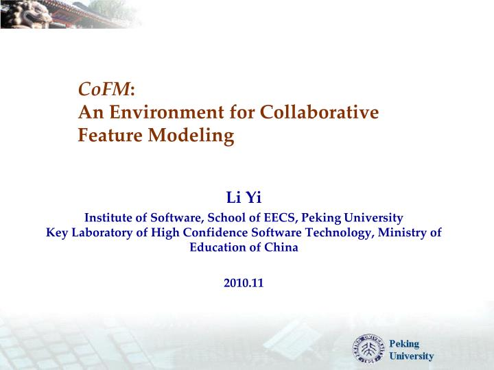 Cofm an environment for collaborative feature modeling