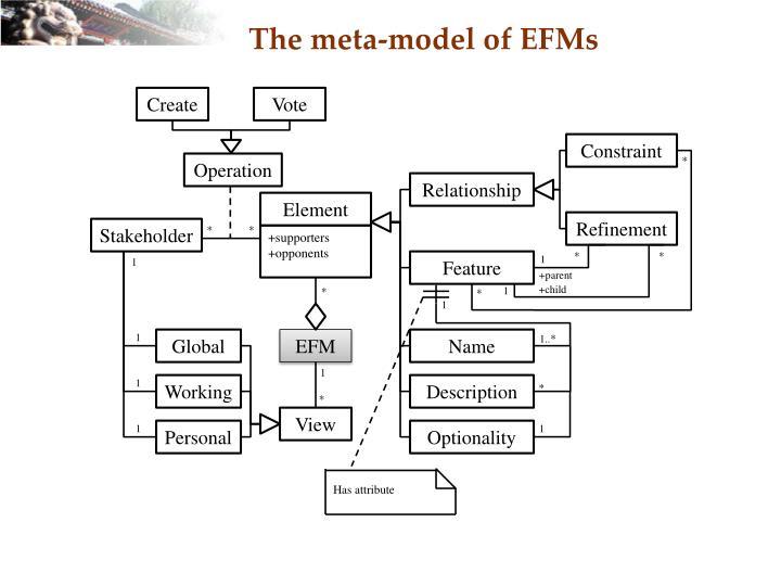 The meta-model of EFMs