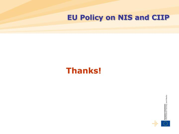 EU Policy on NIS and CIIP