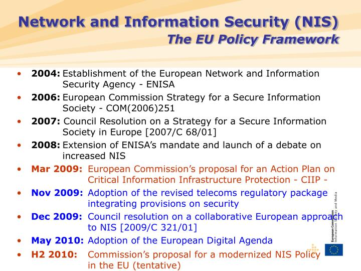 Network and Information Security (NIS)