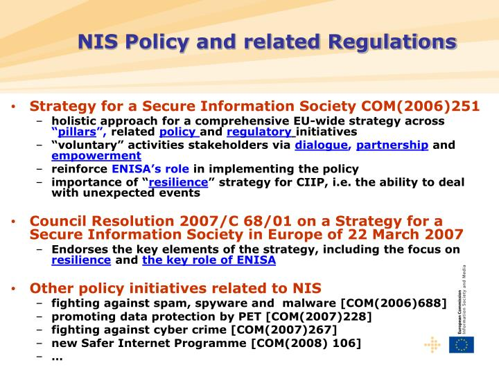 NIS Policy and related Regulations