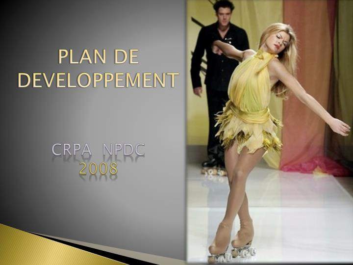 Plan de developpement crpa npdc 2008