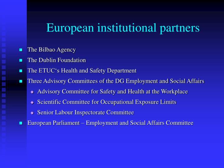 European institutional partners