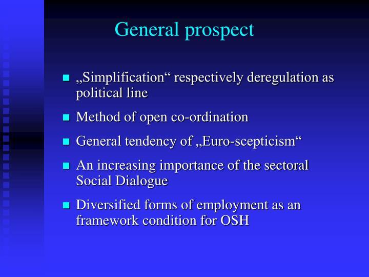 General prospect