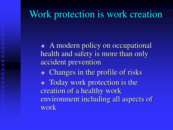 Work protection is work creation