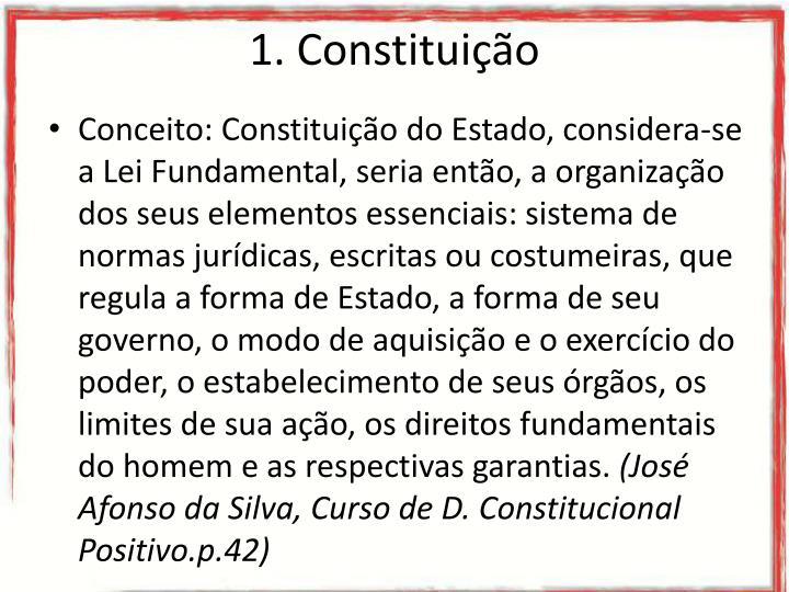 1. Constituição