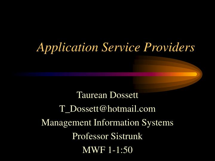 application service providers n.