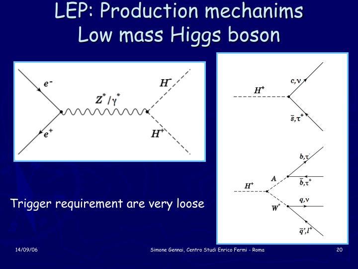 LEP: Production mechanims