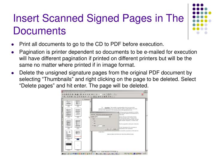 Insert Scanned Signed Pages in The Documents