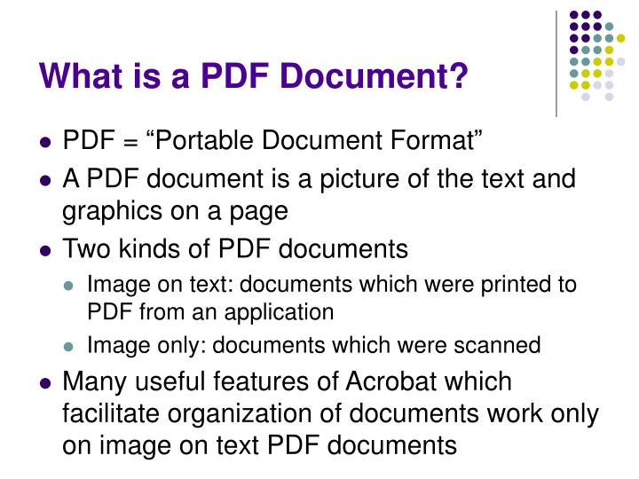 What is a PDF Document?