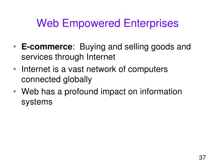 Web Empowered Enterprises