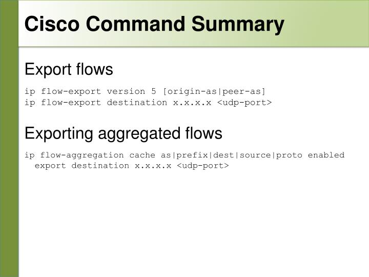 Cisco Command Summary