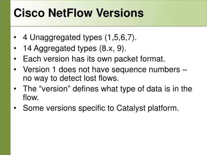 Cisco NetFlow Versions
