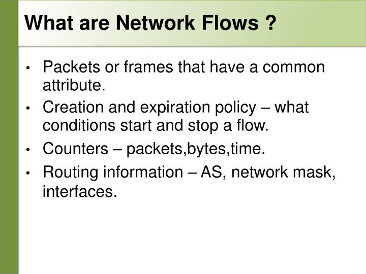 What are network flows