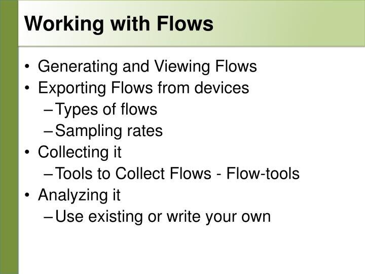 Working with Flows