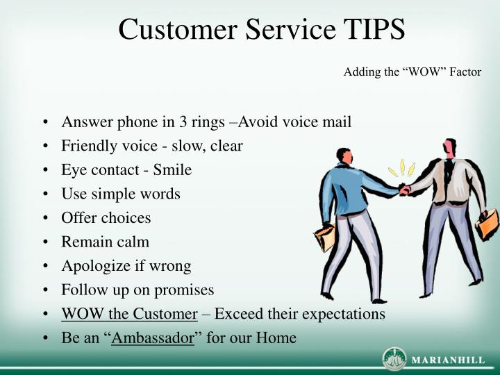 Customer Service TIPSAdding The WOW Factor