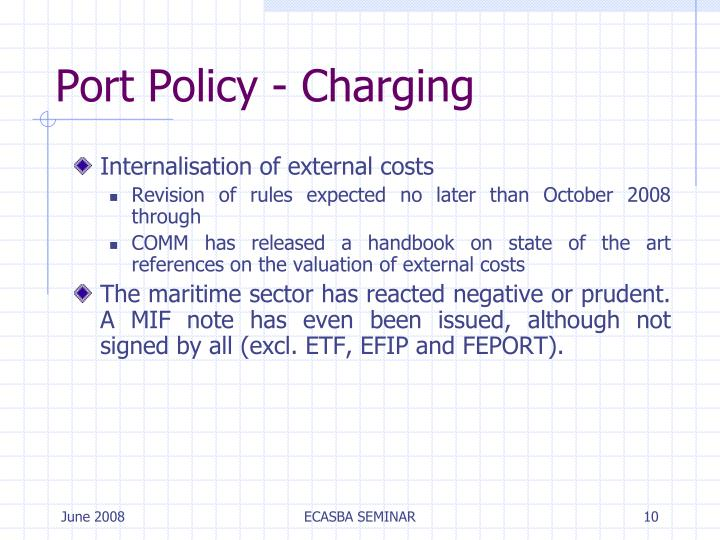 Port Policy - Charging