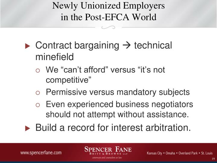 Newly Unionized Employers