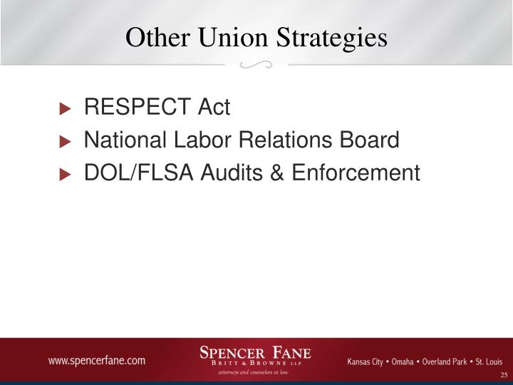 Other Union Strategies