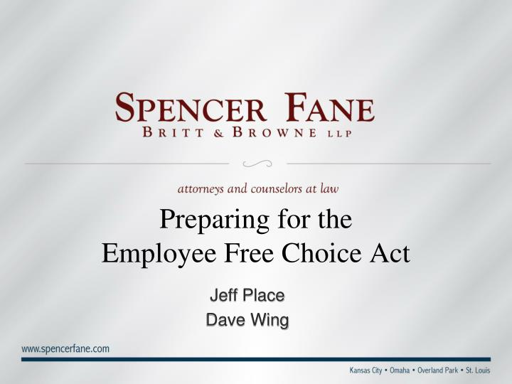 Preparing for the employee free choice act