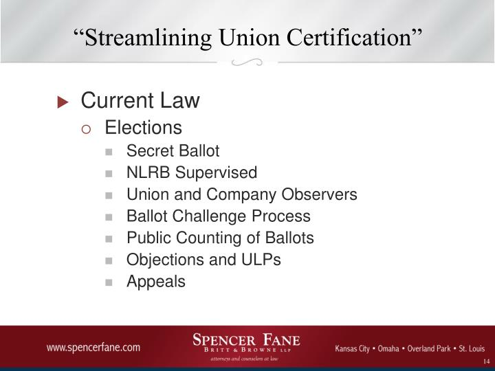 """Streamlining Union Certification"""