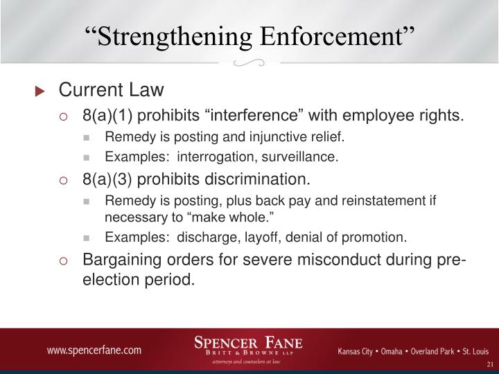 """Strengthening Enforcement"""