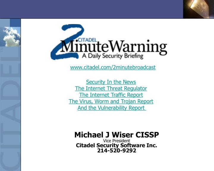 Security In the News