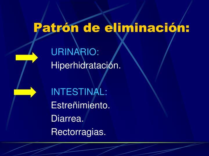 Patrón de eliminación: