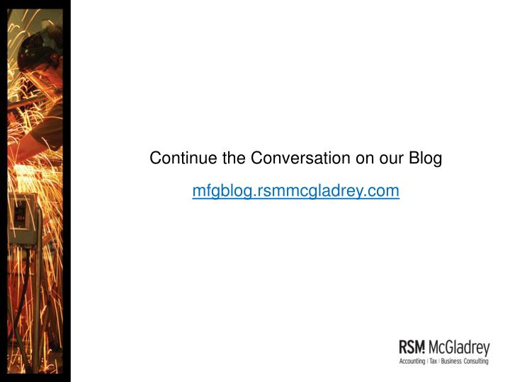 Continue the Conversation on our Blog