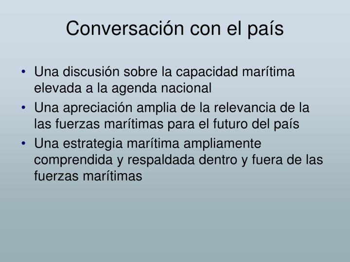 Conversación con el país