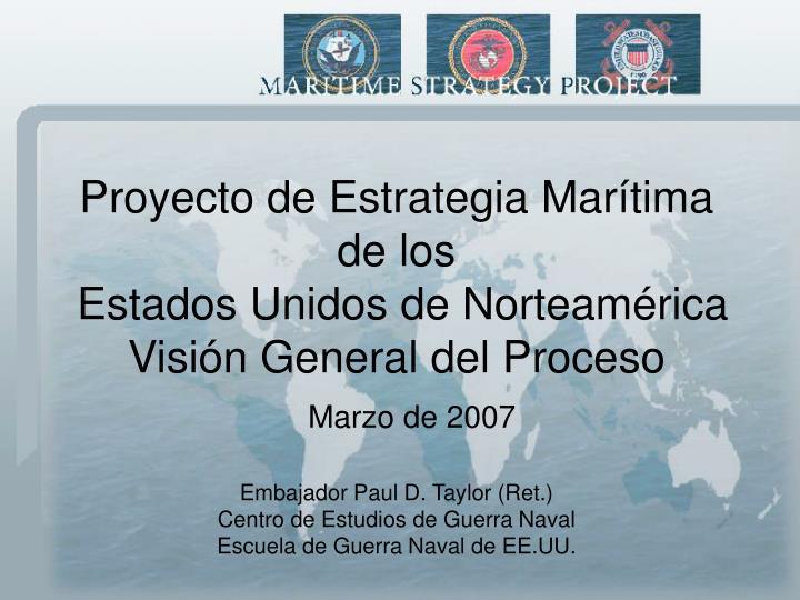 Proyecto de Estrategia Marítima
