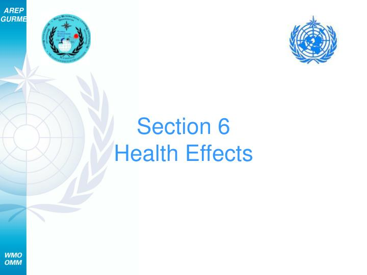 section 6 health effects n.