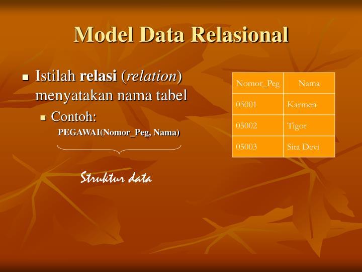 Model data relasional1