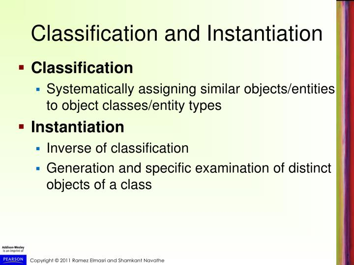 Classification and Instantiation