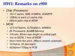 hw1 remarks on z900